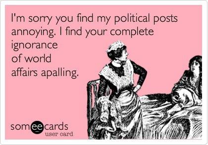 annoying political post E card